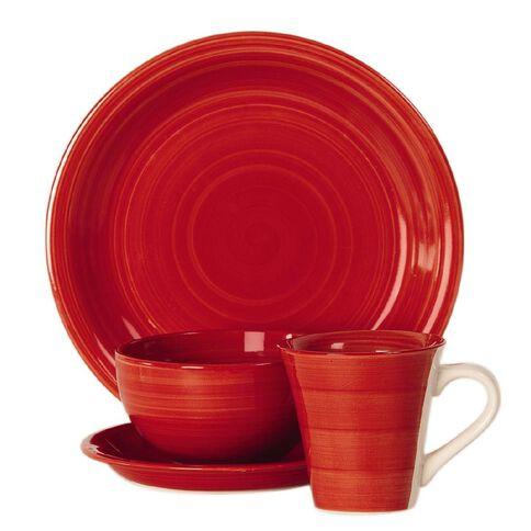 Living & Co Hand Painted Mug Red 12oz