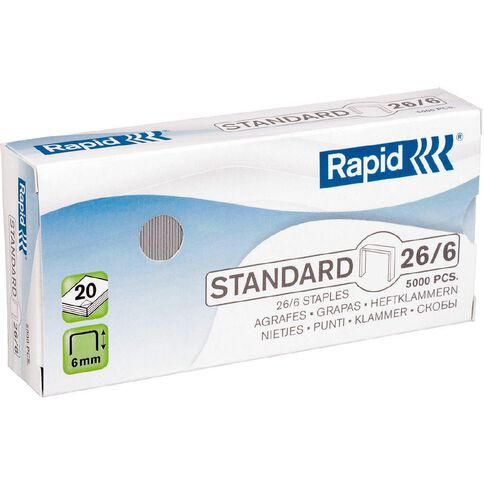 Rapid Staples 26/6 Pack of 5000