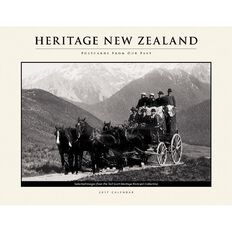 Calendar 2017 New Zealand Heritage Postcards From Past Horizontal Wall