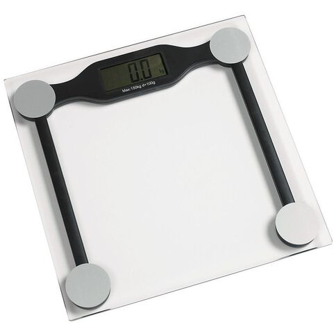 Living & Co Digital Bathroom Scale Square Glass