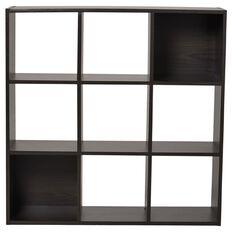 Living & Co Madrid Display Shelf 9 Cube Chocolate