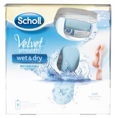 Scholl Velvet Smooth Wet & Dry Electronic Foot File