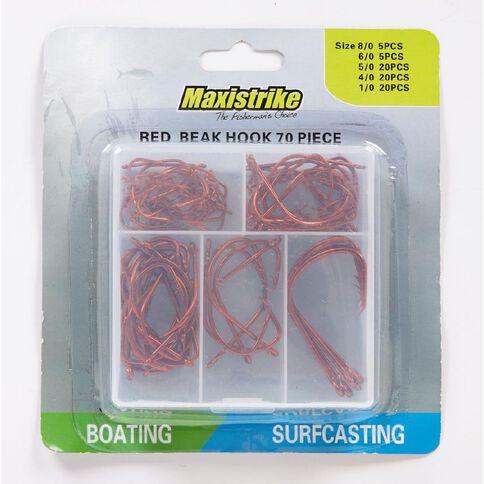 Maxistrike Fishing Hooks Beak Red 70 Piece