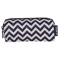 Colour Co. Toiletry Bag Pencil Case Chevron Black/White Small