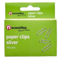 Necessities Brand Paper Clips Silver 250 Pack