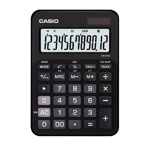 Casio Desktop Calculator MS20 Black