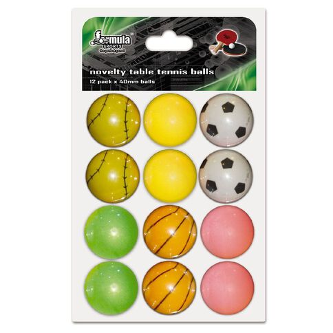 Formula Sports Novelty Table Tennis Balls 12 Pack