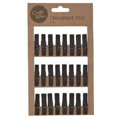 Craftwise Chalkboard Pegs 24 Piece