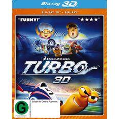 Turbo 3D Blu-ray 3Disc