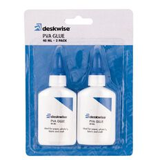 Deskwise PVA Glue 2 Pack 40ml