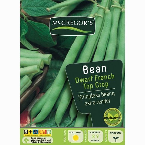 McGregor's Top Crop French Dwarf Beans Vegetable Seeds
