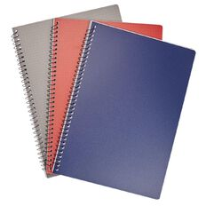 Deskwise Spiral PP Notebook A4 3 Pack