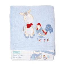 Rocco And Tolly Barnyard Buds Coral Fleece Bassinet Blanket