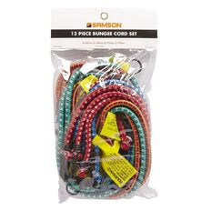 Samson Bungee Cords with Steel Hooks Set 12 Piece