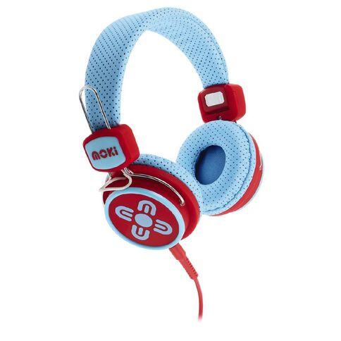 Moki Kids' Safe Headphones Blue/Red