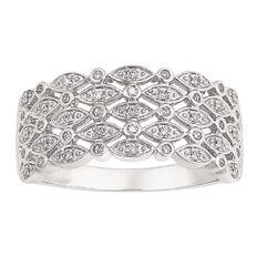 9ct Gold Diamond Fancy Ring