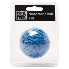 Paper Scissors Rock Sticky Rubber Band Ball Blue 75g