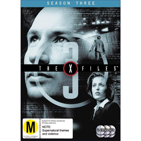 X Files Season 3 DVD 6Disc