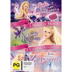 Barbie In A Fashion Fairytale/Magic Of Pegasus DVD 3Disc