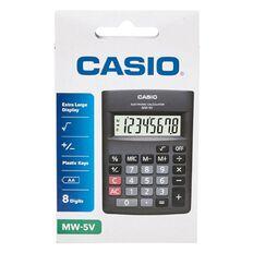 Casio Hand Held Calculator with Tilt Screen MW5VBK Grey