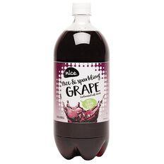 Nice 99% Sugar Free Grape Carbonated Beverage 1.25L