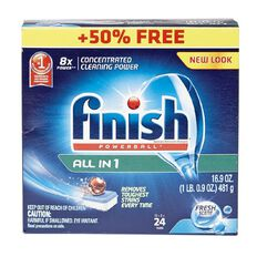 Finish Dishwasher Tabs All-in-One Fresh Scent 24 (16 + 8) Bonus Pack