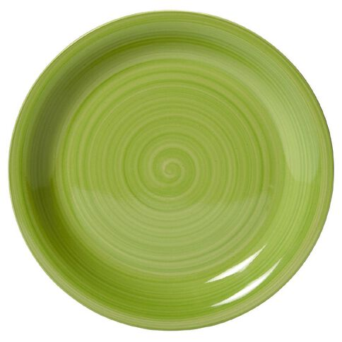 Living & Co Hand Painted Dinner Plate Lime 10.5 inch