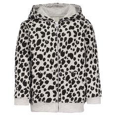 Hippo + Friends Toddler Girl All Over Print Sweatshirt