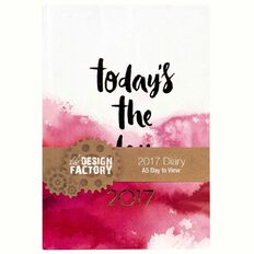 Diary 2017 Fashion Day Per Page A5 Assorted