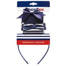 Schooltex Hair Accessories Set 15 Piece Set Navy
