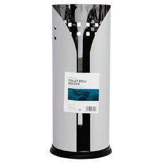 Living & Co Standing Toilet Roll Holder Stainless Steel