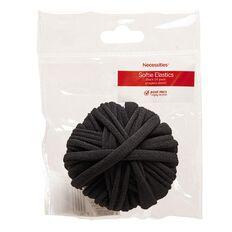 Necessities Brand Hair Softie Elastics Black 24 Pack