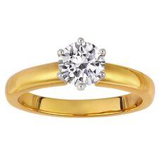 1 Carat Diamond Solitaire 18ct Gold Diamond Ring