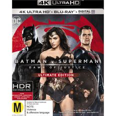 Batman v Superman Dawn of Justice 4K Blu-ray 1Disc