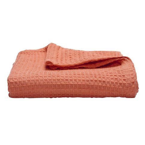 Living & Co Throw Waffle Coral 127cm x 152cm