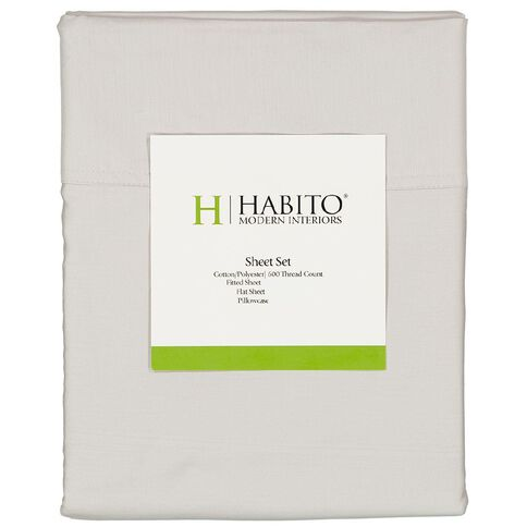 Habito Sheet Set 600 Thread Count Lunar Rock King