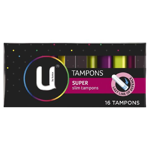 U By Kotex Tampons Super 16 Pack