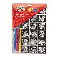 Kids' Art & Craft Sticker Set Colour Your Own