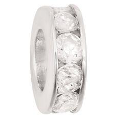 Ane Si Dora Sterling Silver White CZ Charm