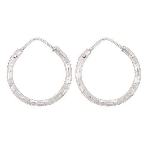Sterling Silver Diamond Cut Earrings 20mm