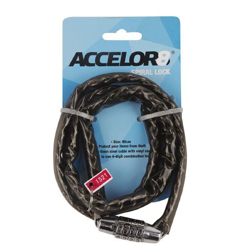 Accelor8 Spiral Bike Lock 90cm