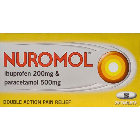 Nuromol Tablets 20s - LIMIT OF 1 PER CUSTOMER