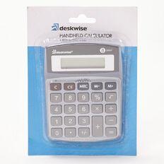 Deskwise Calculator Hand Held Grey