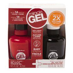 Sally Hansen Miracle Gel Duo Pack Red Eye 14.7ml 2 Pack