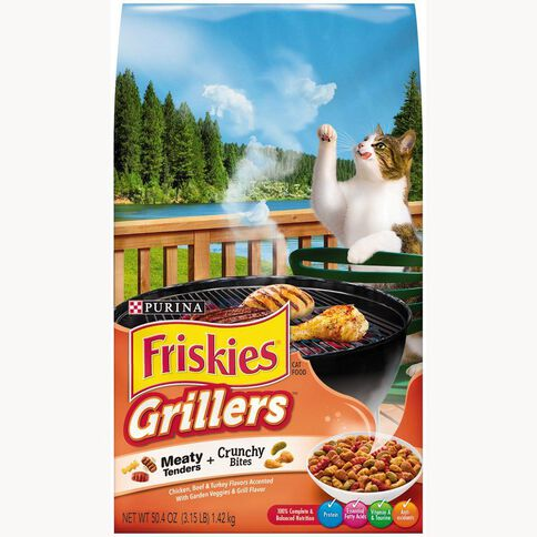 Friskies Grillers Dry Cat Food 1.42kg