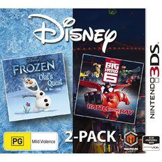 3DS Disney Double Pack Frozen Big Hero 6
