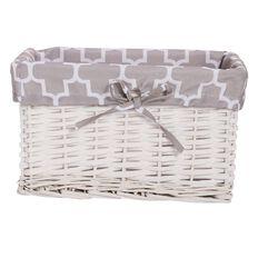 Living & Co Bastide Basket Rectangle White Medium 30cm x 20cm x 18cm