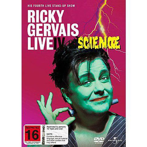 Ricky Gervais Live Science DVD 1Disc