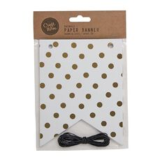 Craftwise Twinkle Paper Banner 20 Piece Rope 3yds