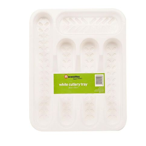 Necessities Brand Cutlery Tray White